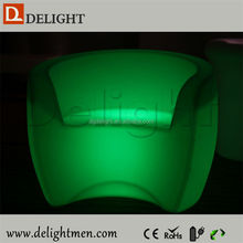 China supplier outdoor ip65 glowing 16 color wireless control wooden sofa furniture