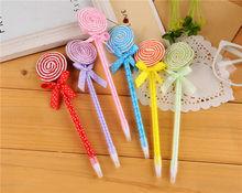 Flat Shape Lollipop Ballpoint Pen