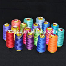 High quality cotton poly core spun thread 24s100% polyester yarn auto cone waxed yarn 40s/1 high quality