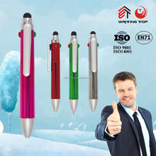 small stylus touch pen 3 colors change pen plastic UV pen