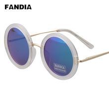 210 ewfdy new retro sunglasses for men and women anti-luster membrane repair round frame sunglasses glasses mirror face Princ
