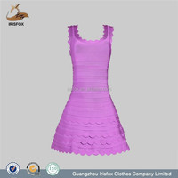purple lace puffy bodycon dress high-low cheap moroccan wedding dress