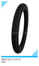 motorcycle tire 2.50-17, 2.75-17 pattern code 1046