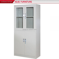 China Steel Cabinet Manufacturer Sliding Glass Door Filing Cabinet Tall Narrow Storage Cabinet