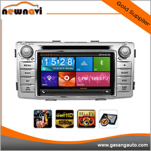 Wince 6.0 central multimedia car audio for Toyota Hilux with DVD radio gps BT OBD 3G WiFi Multi-touch
