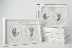 lovely baby hands&foots prints mdf photo frame with inkpad good looking packing