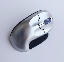 Ergonomic mouse with wireless nano receiver 2.4GHz and vertical grip portable for laptops and desktops