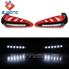 Universal Motorcycle Red Hand Guard With white 8 LED Indiactor Dirt Bike Hand Guard Motorcross Handguard For ATV