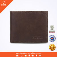Factory wholesale Brown 100% Genuine Leather Wallet Product Purse