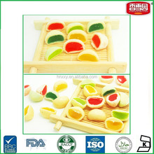 Colorful Mix Flavors Jam Filled Center Soft Jelly Candy