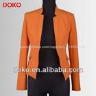 laranja 2014 terno de negócio para mulheres mangas compridas