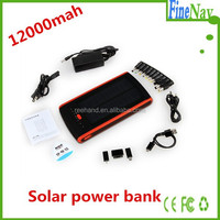 External high capacity 12000mAh mobile solar power band