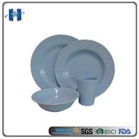 High quality blue melamine tableware sets for hotel restaurant