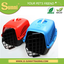 Pet transportation box plastic portable acrylic pet cage