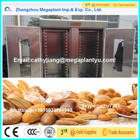 Rotary cookies baking oven and bread baking machinery with 6trays
