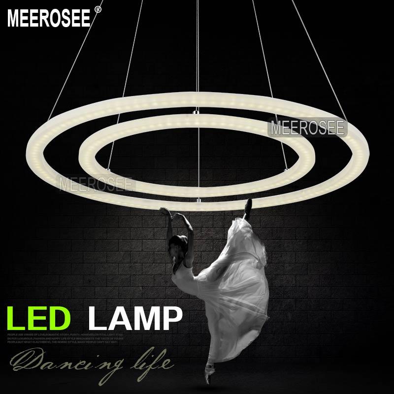 meerosee Modern LED Ring Chandelier Light Fixture, LED ...
