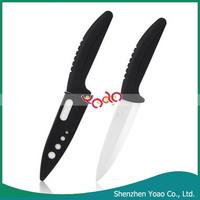 "Stylish Sharp Black Curved Handle Ceramic Knife 7"""