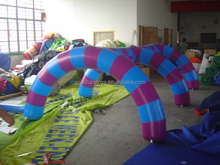 inflatable mini green and red zebra crossing arch , inflatable arch/inflatable wedding arches/inflatable entrance arch