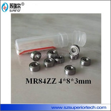 P5 deep groove type MR84ZZ 5 abec bearings 4x8x3mm for spinning top