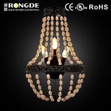 European style fabric lampshade no crystal wall lamp
