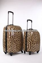 Panther print vision spinner travel trolley bag set