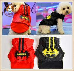 2015 new Funofpet Batman two piece suit vest cloak turned pet dog + funny clothes
