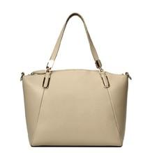 2015 Women Lady Wool Felt Genuine Leather Shoulder Bag