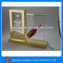 Acrylic wine bottle holder, fake wine bottles for display