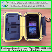 Must-Have outdoor beach item waterproof speaker case transparent for iphone ipad using PVC+ABS material