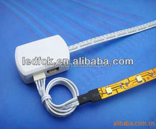 Waterproof Flexible Color Changing RGB Ribbon 5050 wiring cable connector + 24 Key IR Remote Controller
