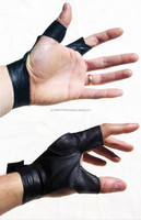 2 Finger 100% Pure Leather Handmade Archery Shooting Gloves for hunter