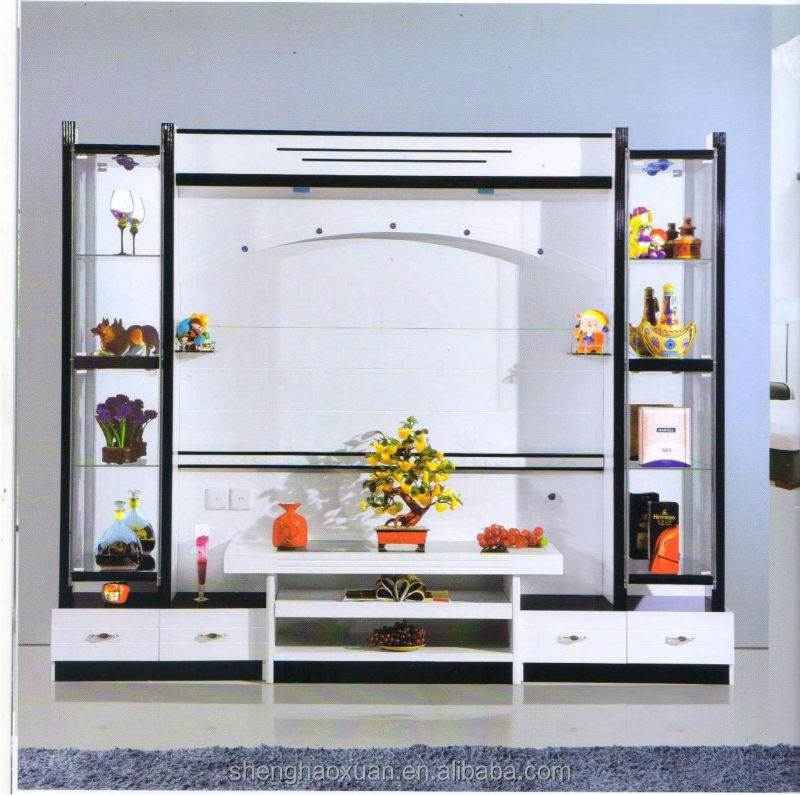 China manufactory modern living room furniture lcd tv for Lcd cabinets designs in living room
