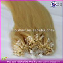 Factory price wholesale micro ring loop hair extension 1g/strand 100% Brazilian remy human hair
