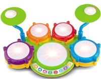 2 IN 1 music drum with beat game
