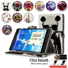 In Stock !Universal Leather Tablet Wallet Folding Folio Case Cover For All Android 7 Inch With Stand With Micro-Fibre Stylus Pen