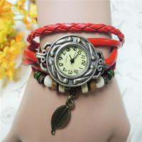 Fashion Vintage Retro Wrap Rope Bracelet Watches for women