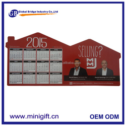 2016 paper calendar fridge magnet with cheap price and as promotion gifts