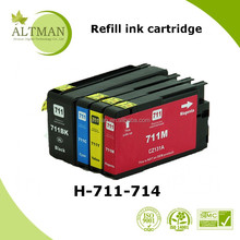 refill ink cartridge for t120,Factory price compatible for 711 refillable ink cartridge