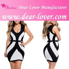 Black White Curvy Straps Bodycon Casual Wear Sex dress for Women