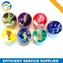 High Bouncing Rubber Bouncing Ball with Aliens Figure Inside