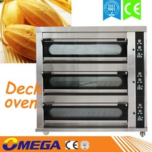 HOT! OMEGA Full-automatic 9 Trays Electric 3 Deck Bakery Oven/portable elelctric oven