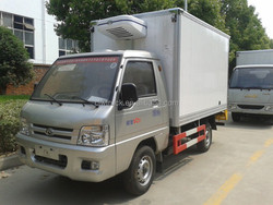 High quality 1 ton mini refrigerators foton freezer trucks for sale