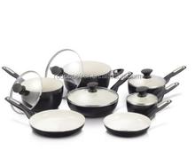 12 Piece Rio Ceramic Non-Stick Cookware Set, forged aluminum cookware sets metal inserts,,enamel turkey pot,kitchenware sets