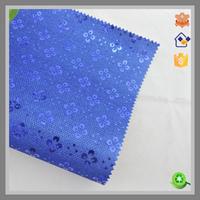 royal blue 0.7mm TC fabric glittter for dinner bag