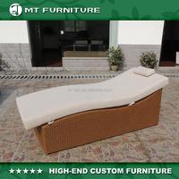 resin wicker sun lounge chair