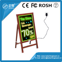 Alibaba express factory price rewritable led sign board 90 flashing modes remote control stand up advertising board led message