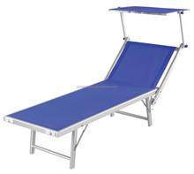portable beach chaise beach sun lounger with shade made by texilene