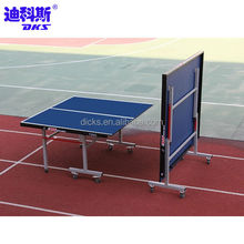 Folding Used Table Tennis Tables With 8 Wheels
