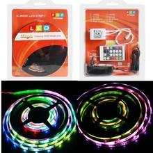 7.2 watt/m smd 5050 smart rgb lighting strip IR controll rain drop christmas lights