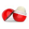 colorful cute ball shape name brand organic lip balm--strawberry flavor